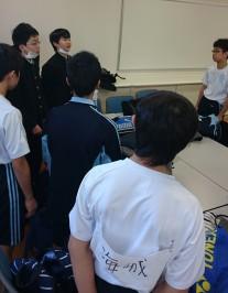 試合前、部長の松田より試合への心構えが伝えられました。
