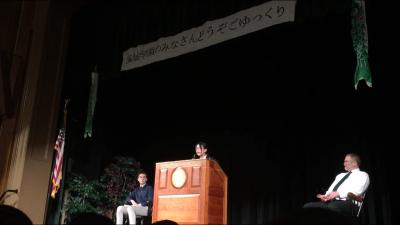 Y先生。海城学園の代表としてこれ以上ないスピーチをしました。