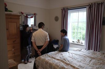 極めてclean and tidyな部屋でした。もともとは長男の部屋。ホームステイの生徒がいる間、長男は弟とルームシェアしています。