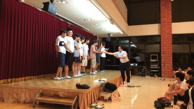 Speaking Rally 優勝チーム表彰の様子