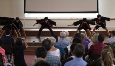 伊藤多喜雄さんの南中ソーラン節のCDで踊りました。ノリノリの感じでスタートです。