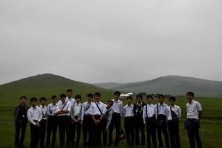 新モンゴル学園のサマーキャンプ地にて