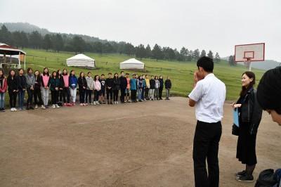 海城の生徒代表挨拶