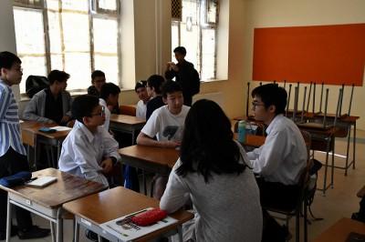 日本語の授業で自己紹介